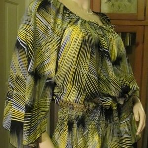 Jennifer Lauren Black, Yellow & Gray Top size 1X